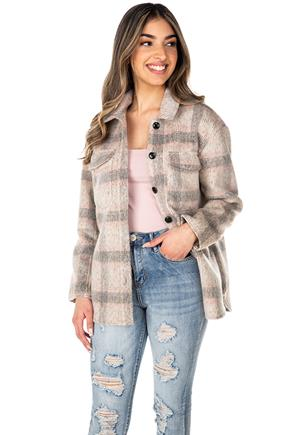 Only Kawi Plaid Shacket
