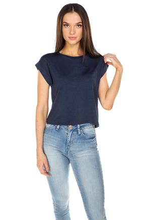 Cuffed Short Sleeve Cropped Tee