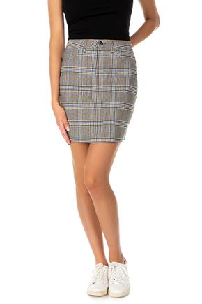 Plaid Stretchy Mini Skirt