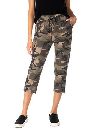 Camo Reverse French Terry Capri