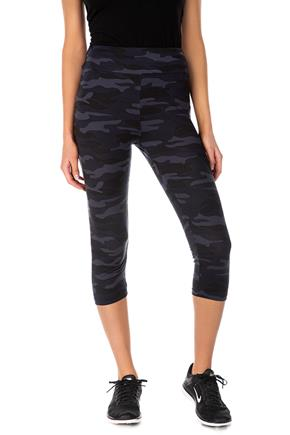Camo Brushed Capri Legging with Wide Waistband