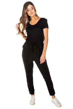 French Terry Short Sleeve Jumpsuit