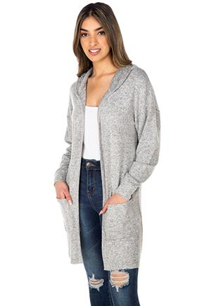 Supersoft Long Sleeve Hooded Cardigan