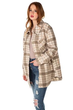 Brushed Plaid Shacket