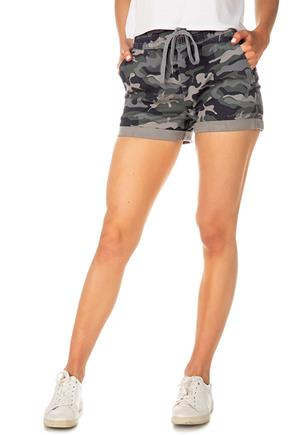 Camo Short with Elastic Waist and Drawcord