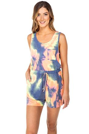 Tie-Dye French Terry Sleeveless Romper