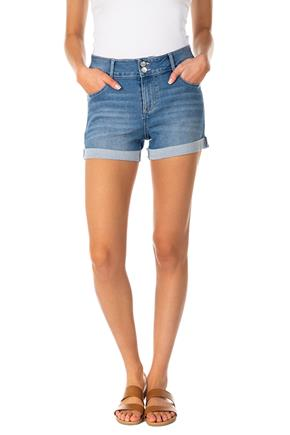 Wallflower Amal Wash Sassy Mid-Rise Denim Short