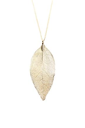 Delicate Filigree Leaf Necklace