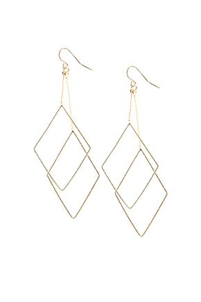 Boucles d'oreilles de diamants suspendus