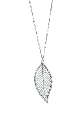 Rhinestone Leaf Necklace