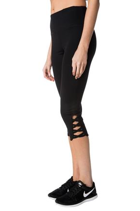 Tattoo Athletics Capri with Criss Cross Leg Detail