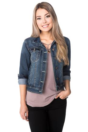 WallFlower Kagan Wash Jean Jacket