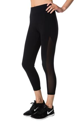 Tattoo Athletics Capri with Mesh Inserts
