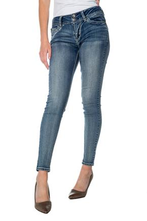 WallFlower Averly Wash Mid-Rise Skinny Jean