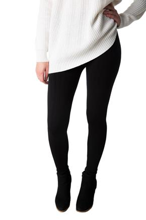 Chevron Knit Fleece-Lined Legging