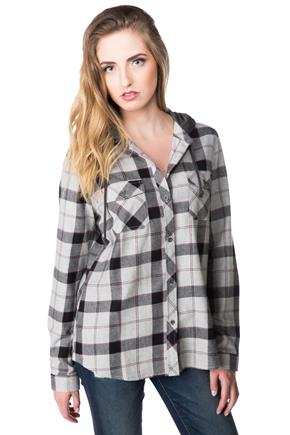 Charlie Plaid Flannel Shirt with Hood