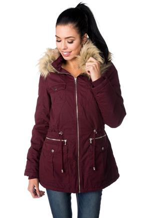YMI Parka with Fur Trim Hood