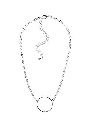 Chain Link Choker with Circle Detail