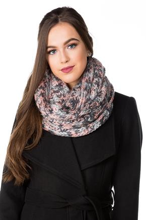 Knit Wide Infinity Scarf