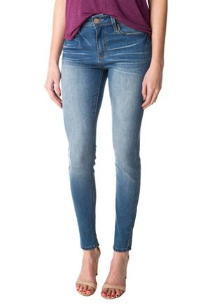 YMI Medium Wash Mid Rise Skinny Jean