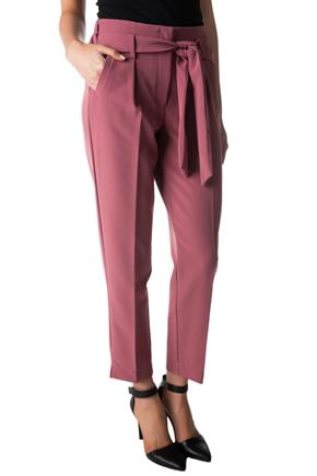 Pleated Ankle Length Pant with Tie Belt and Pockets