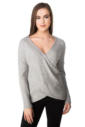 Super Soft Ribbed Crossover Sweater