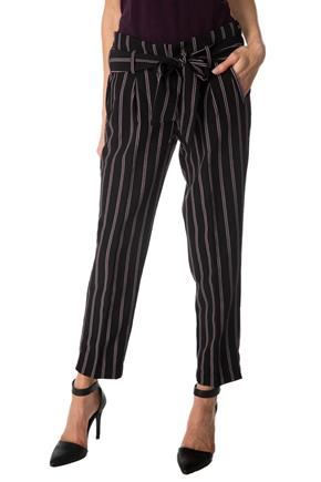 Striped Pleated Pant with Tie Belt