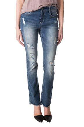 WallFlower Luna Wash High-Rise Ripped Bootcut Jean