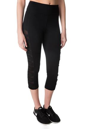 Tattoo Athletics Capri with Mesh Inserts and Criss Cross Details