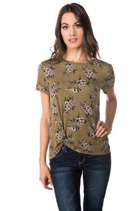Knotted Floral WallFlower Tee