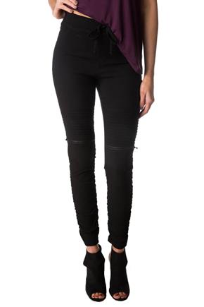 Ruched Skinny Moto Pants