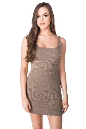 Textured Bodycon Tank Dress