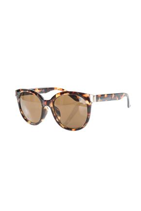 Oval Sunglasses with Metal Detail