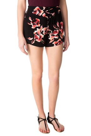 Lace-up Floral Short