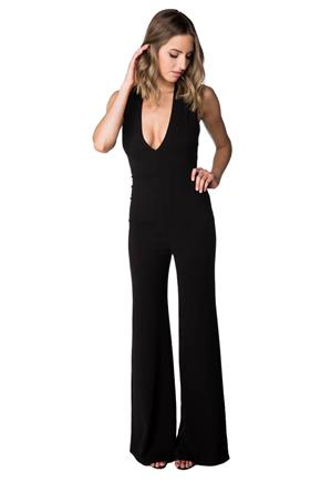 Sleeveless Plunging V-neck Jumpsuit