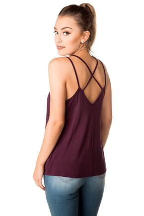 Strappy Cami with Criss Cross Back