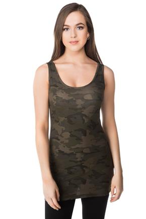 Camo Tunic Length Boytank