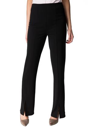 High-Rise Bootcut Pant with Front Slits