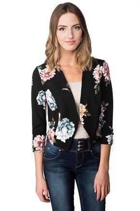 Light Open Floral Blazer