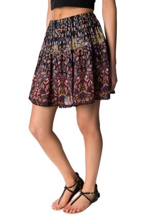 Boho Skirt with Crochet Hem