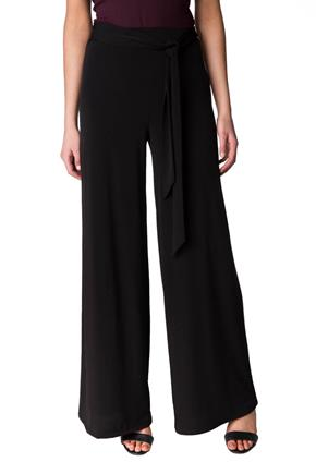Wide Leg Pant with Tie Belt