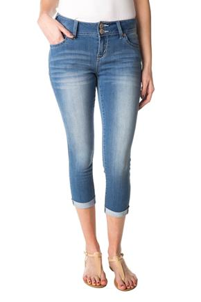 WallFlower Amal Wash Low-Rise Skinny Capri with Cuffed Hem