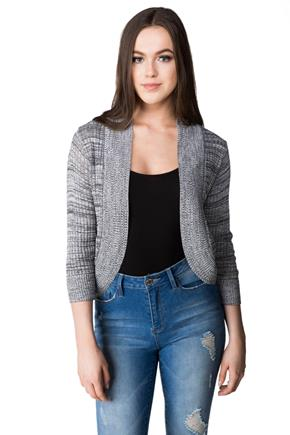 Cropped Pointelle Cocoon Cardigan