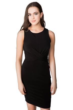 Sleeveless Dress with Twisted Front