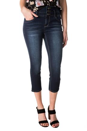 Tattoo Sadie Dark Wash High-Rise Capri