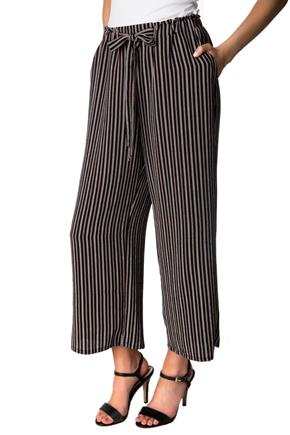 Striped Capri Pant with Tie Belt