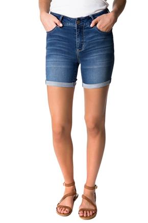 WallFlower True Blue Wash Insta-Soft High-Rise Cuffed Short