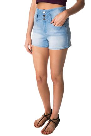 Tattoo Sadie Light Wash High-Rise Short