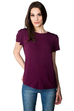 Tee with Lace-up Detailing