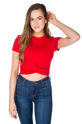 Crop Top with Twisted Hem